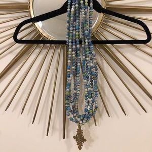 Akola Project Blue Long Layered Necklace